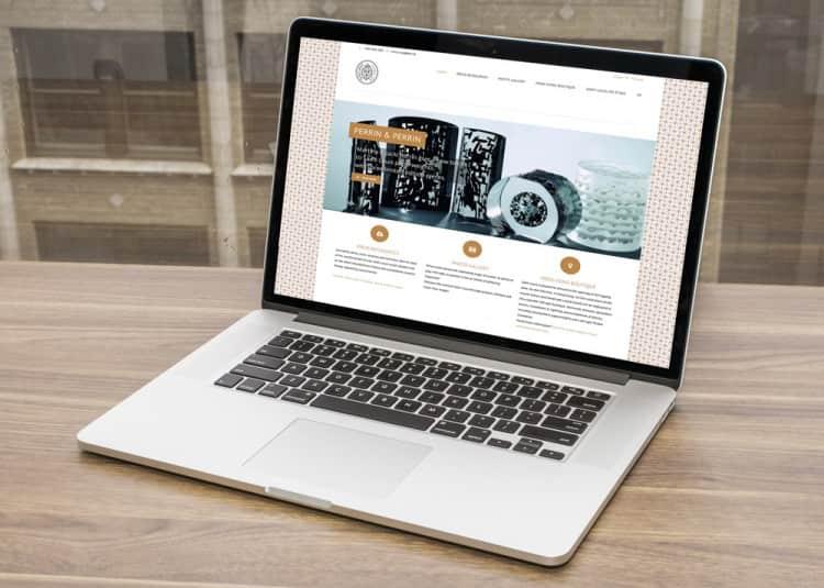Site web wordpress : espace presse pour la cristallerie Saint-Louis